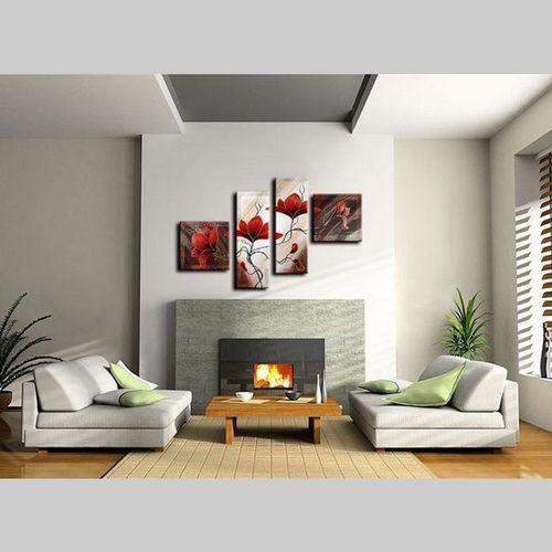 4 Leinwandbilder MAGNOLIA (2) 100 x 70cm Handgemalt - 2