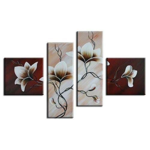 4 Leinwandbilder MAGNOLIA (4) 100 x 70cm Handgemalt - 1