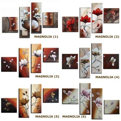 4 Leinwandbilder MAGNOLIA (4) 100 x 70cm Handgemalt - 3