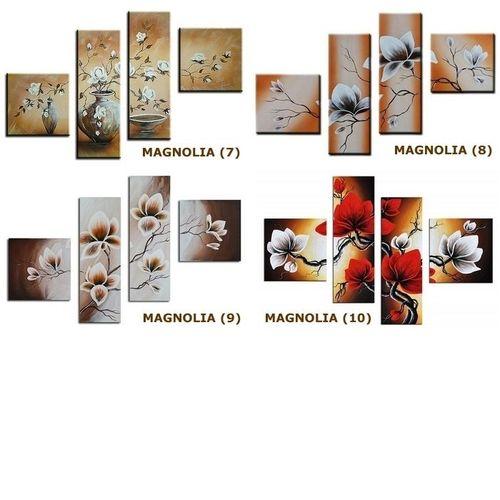 4 Leinwandbilder MAGNOLIA (4) 100 x 70cm Handgemalt - 4