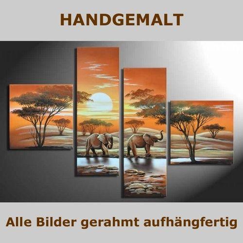 4 Leinwandbilder AFRIKA Elefant (1) 100 x 70cm Handgemalt - 5