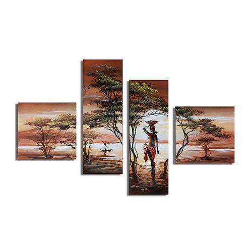 4 Leinwandbilder AFRIKA Frau (1) 100 x 70cm Handgemalt - 1