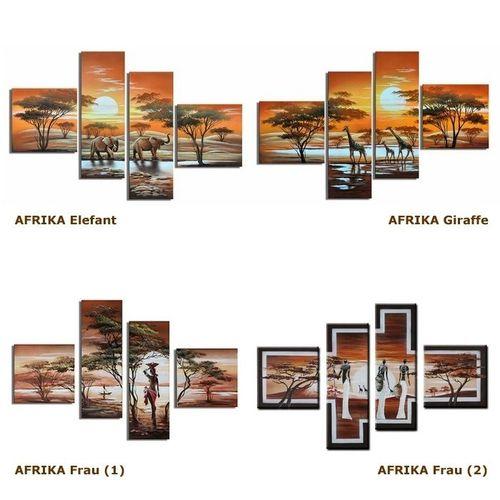 4 Leinwandbilder AFRIKA Frau (1) 100 x 70cm Handgemalt - 4