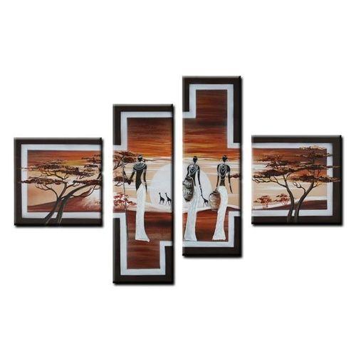 4 Leinwandbilder AFRIKA Frau (2) 100 x 70cm Handgemalt - 1