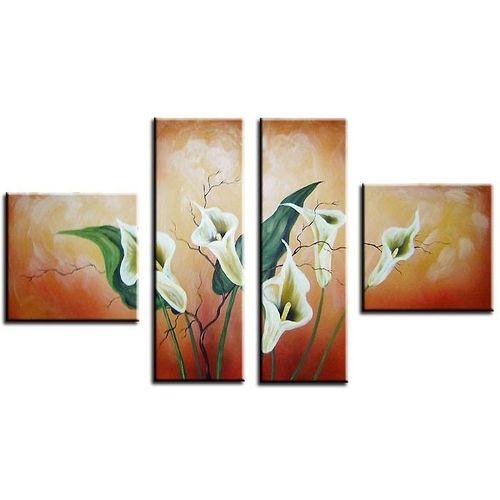 4 Leinwandbilder CALLAS (2) 100 x 60cm Handgemalt - 1