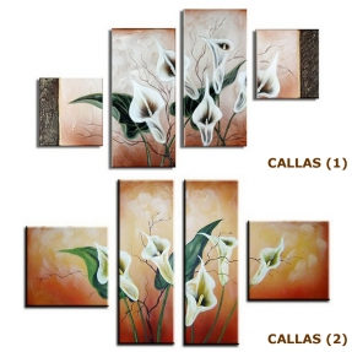4 Leinwandbilder CALLAS (2) 100 x 60cm Handgemalt - 3