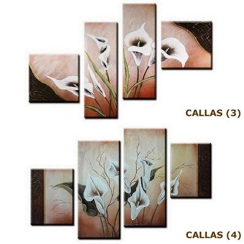 4 Leinwandbilder CALLAS (2) 100 x 60cm Handgemalt - 4