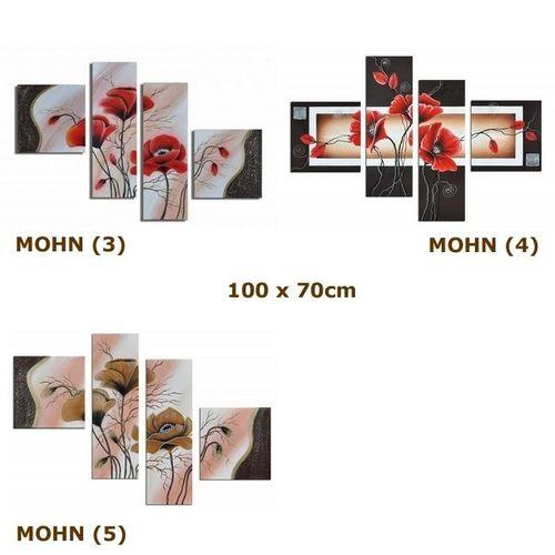 Leinwandbild MOHN (1) 100 x 60cm Handgemalt - 4