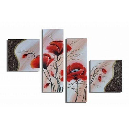 4 Leinwandbilder MOHN (3) 100 x 70cm Handgemalt - 1