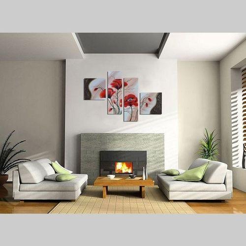4 Leinwandbilder MOHN (3) 100 x 70cm Handgemalt - 2