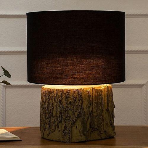 Tischlampe TAMARA Schwarz mit Fußsockel aus Feinbeton 40cm Höhe - 1