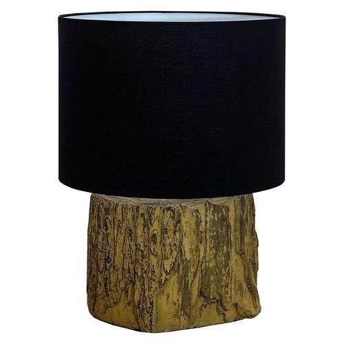 Tischlampe TAMARA Schwarz mit Fußsockel aus Feinbeton 40cm Höhe - 2