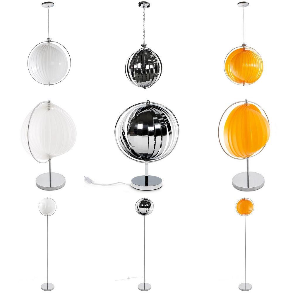design retro lounge stehlampe stehleuchte bola orange. Black Bedroom Furniture Sets. Home Design Ideas
