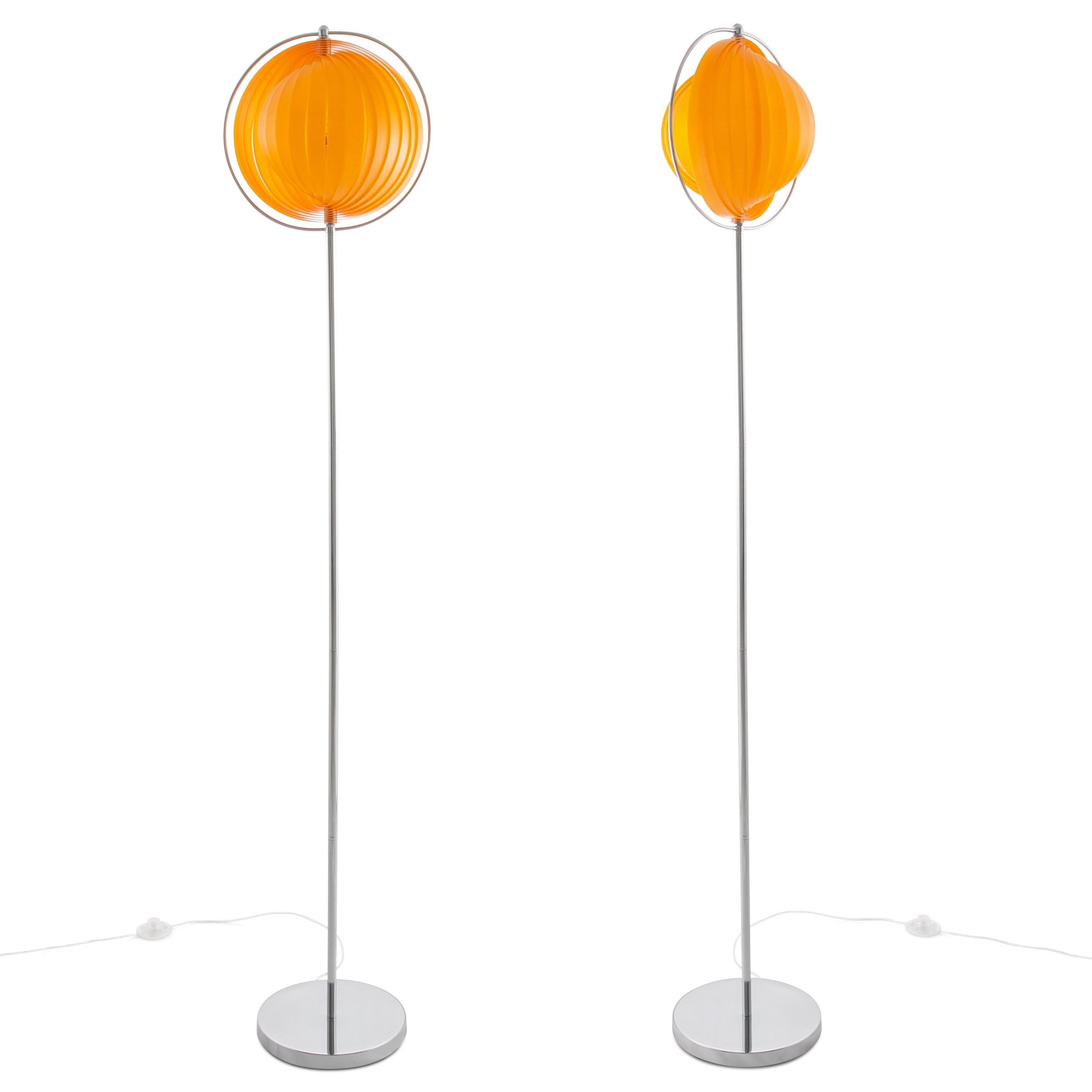 Cagu Design Retro Lounge Stehlampe Stehleuchte Bola Orange