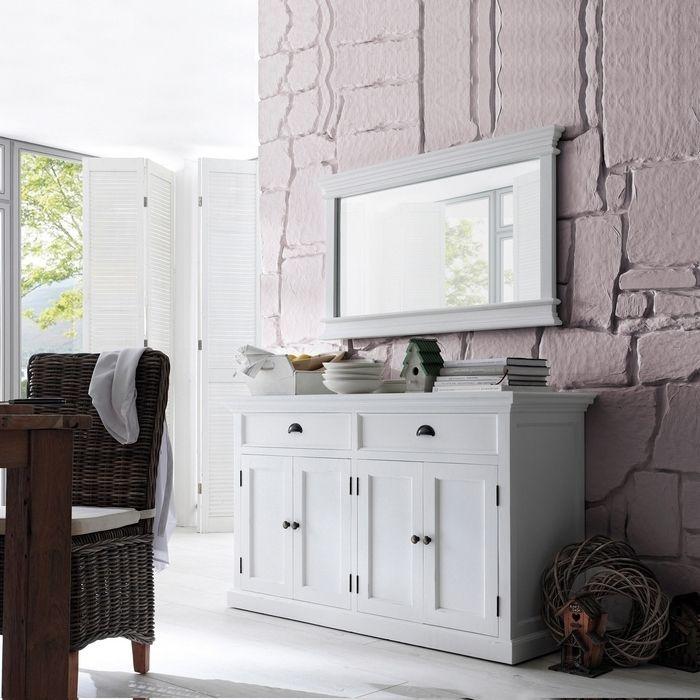 sideboard anrichte kommode josephine antik weiss 145 x 85cm aus mahagoni neu ebay. Black Bedroom Furniture Sets. Home Design Ideas