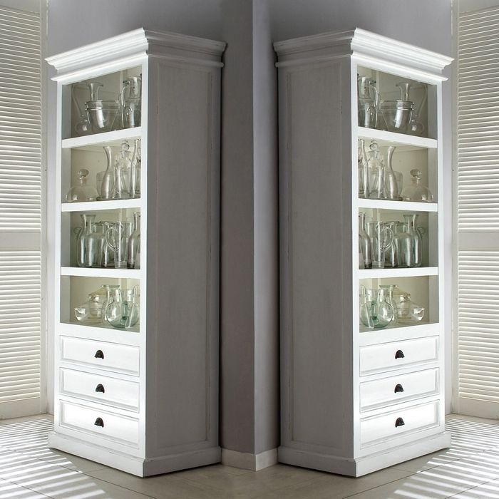 buffetschrank vitrinenschrank josephine antik weiss 100 x 190cm aus mahagoni ebay. Black Bedroom Furniture Sets. Home Design Ideas
