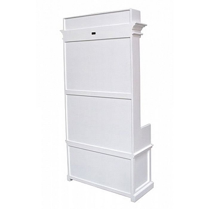 garderobe mit sitzbank josephine 2 rattank rbe antik weiss 100x190cm mahagoni ebay. Black Bedroom Furniture Sets. Home Design Ideas