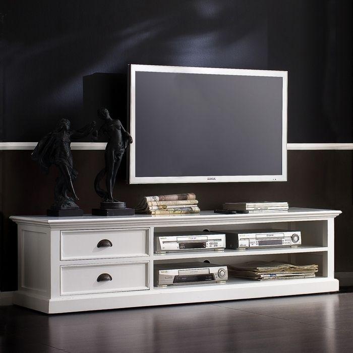 tv lowboard tisch schrank m bel landhaus landhausstil shabby chic wei massiv ebay. Black Bedroom Furniture Sets. Home Design Ideas