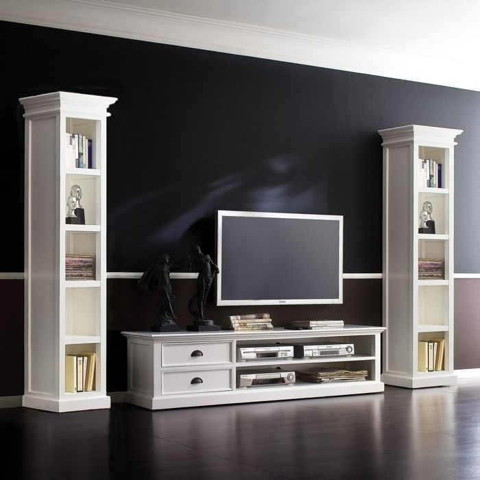 tv lowboard tisch schrank m bel landhaus landhausstil shabby chic wei massiv ebay. Black Bedroom Furniture Sets. Home Design Ideas