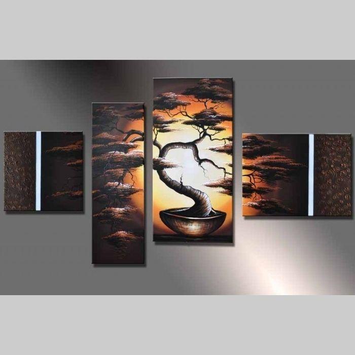 handgemalt 4 leinwandbilder bilder afrika baum 2 120 x 70cm auf rahmen neu ebay. Black Bedroom Furniture Sets. Home Design Ideas