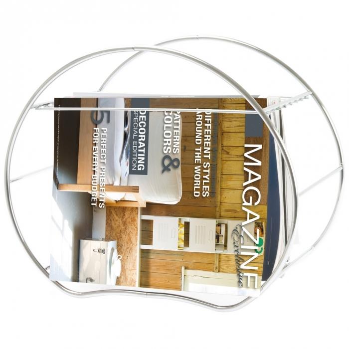 design zeitungsst nder mats chrom stehend 42cm breite. Black Bedroom Furniture Sets. Home Design Ideas