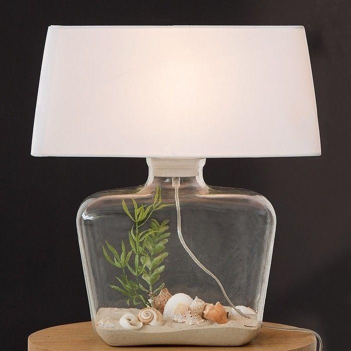 tischlampe vida wei mit bef llbarem glasfu 50cm h he portofrei kaufen cag onlineshop. Black Bedroom Furniture Sets. Home Design Ideas