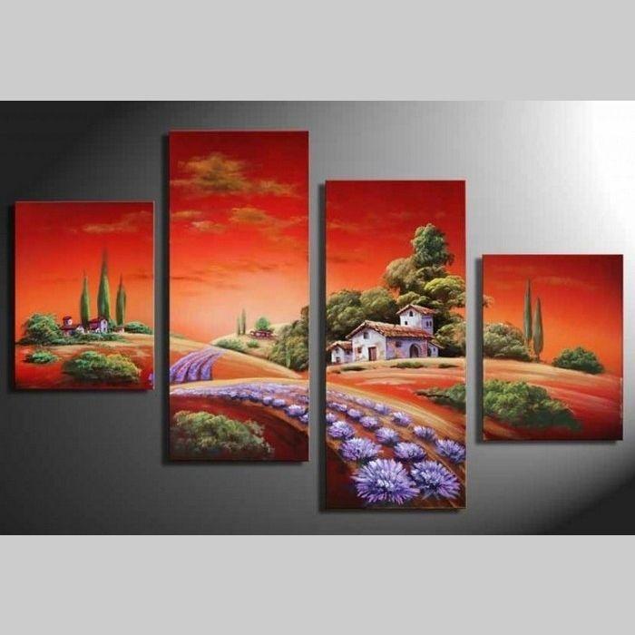 4 leinwandbilder toskana 2 120 x 80cm handgemalt cag onlineshop designerm bel. Black Bedroom Furniture Sets. Home Design Ideas