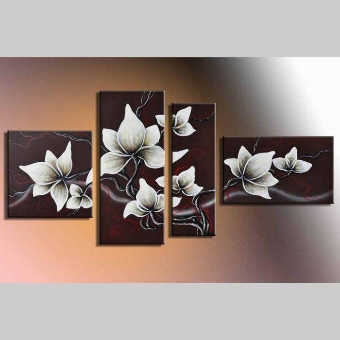 4 leinwandbilder bl te 6 140 x 80cm handgemalt cag onlineshop designerm bel. Black Bedroom Furniture Sets. Home Design Ideas