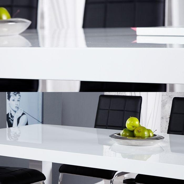 esstisch york wei hochglanz 180cm portofrei g nstig. Black Bedroom Furniture Sets. Home Design Ideas