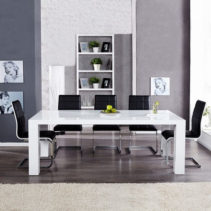 exklusiver designer esstisch york weiss high gloss hochglanz 200cm neu ebay. Black Bedroom Furniture Sets. Home Design Ideas