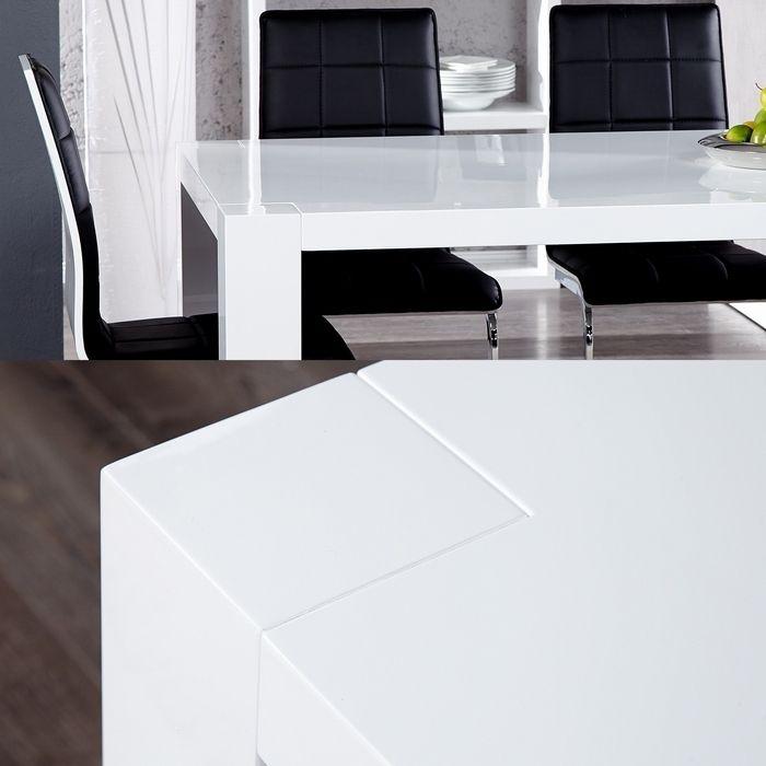 exklusiver designer esstisch york weiss high gloss hochglanz 200cm neu ebay. Black Bedroom Furniture Sets. Home Design Ideas
