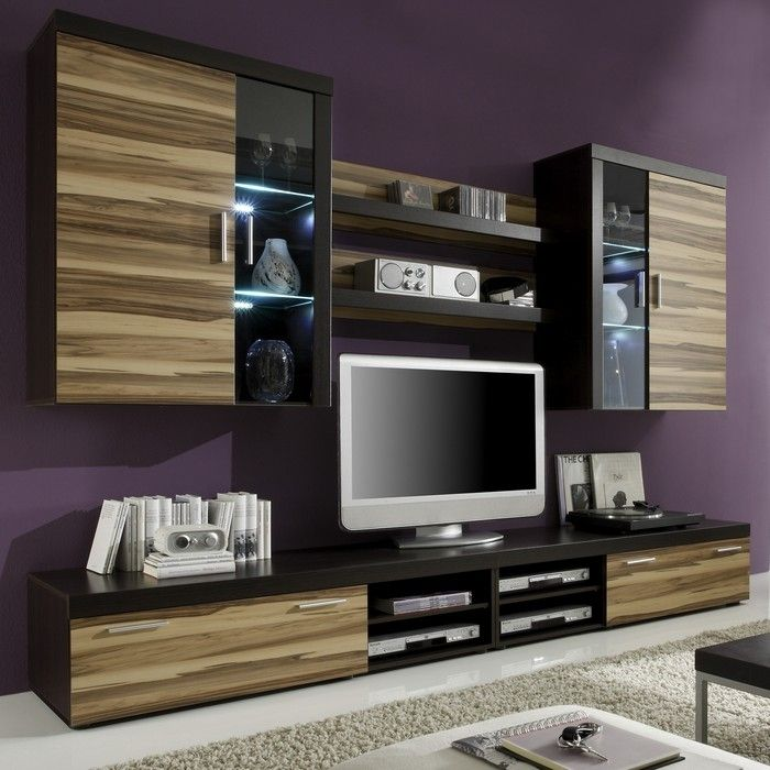 designer wohnwand anbauwand valencia b baltimore walnuss neu ebay. Black Bedroom Furniture Sets. Home Design Ideas