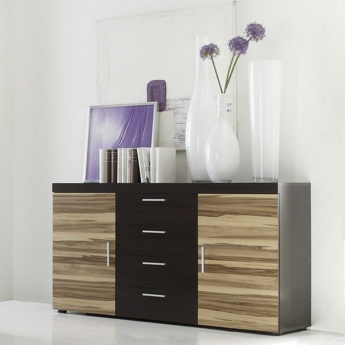 designer sideboard kommode valencia baltimore walnuss neu ebay. Black Bedroom Furniture Sets. Home Design Ideas
