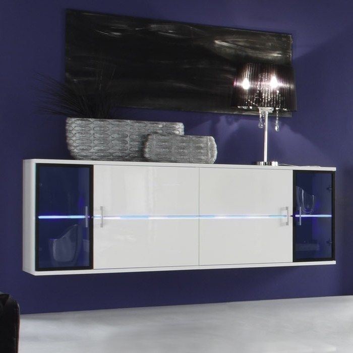 designer wohnwand anbauwand toledo weiss hochglanz inkl tv glasb hne neu ebay. Black Bedroom Furniture Sets. Home Design Ideas