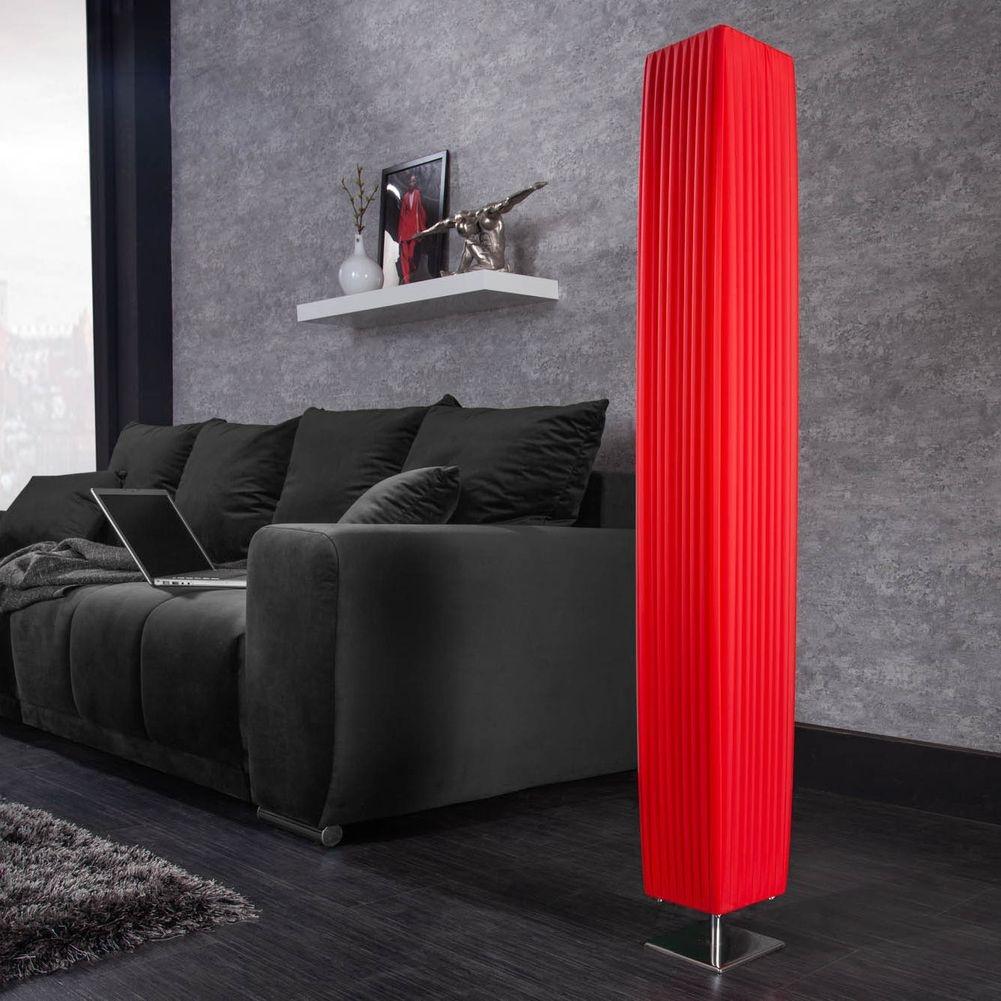 design plissee stehlampe loop rot eckig 120cm h he. Black Bedroom Furniture Sets. Home Design Ideas