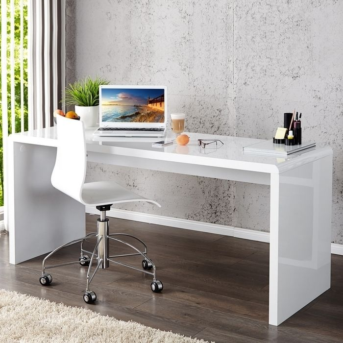 design retro lounge schreibtisch laptoptisch soho weiss hochglanz 140cm neu ebay. Black Bedroom Furniture Sets. Home Design Ideas