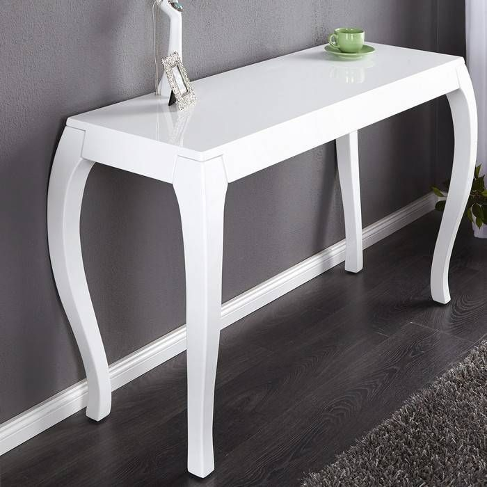 designer barock konsole josephina weiss hochglanz high. Black Bedroom Furniture Sets. Home Design Ideas