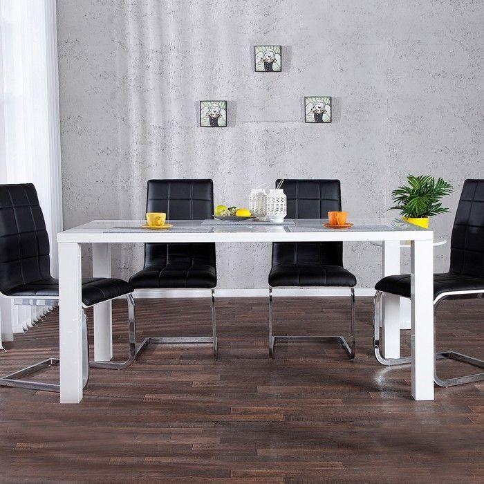 esstisch lucia wei hochglanz 140cm portofrei g nstig. Black Bedroom Furniture Sets. Home Design Ideas