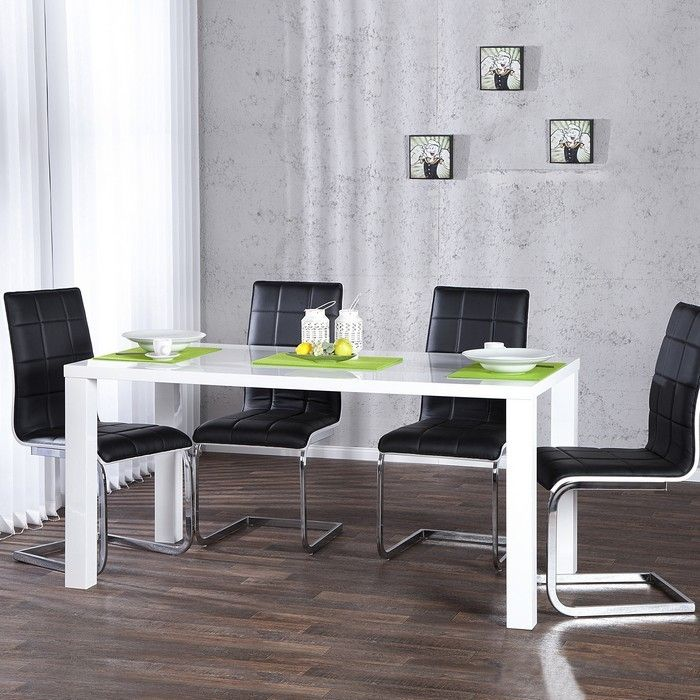 designer esstisch lucia weiss hochglanz high gloss 140cm x 80cm neu ebay. Black Bedroom Furniture Sets. Home Design Ideas
