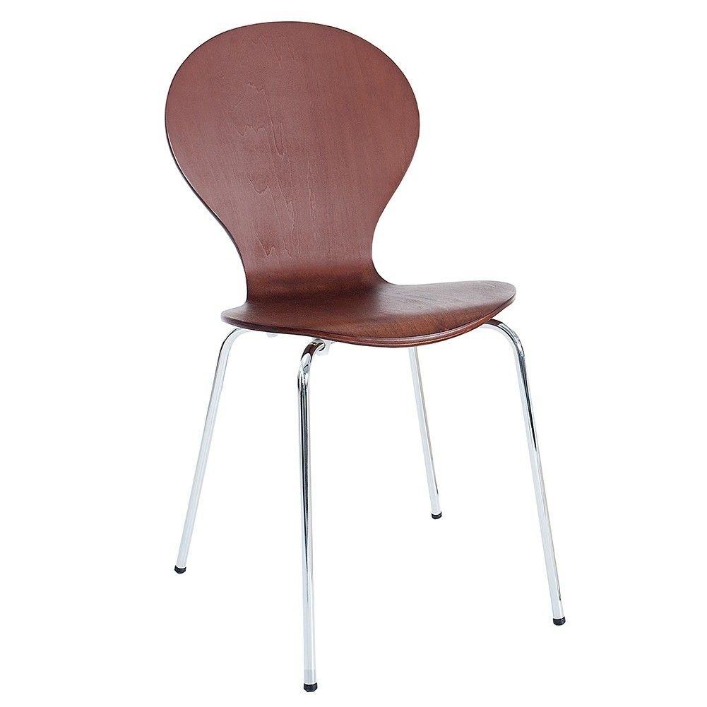 retro design klassiker stuhl stapelstuhl holzstuhl jacobsen coffee braun neu. Black Bedroom Furniture Sets. Home Design Ideas