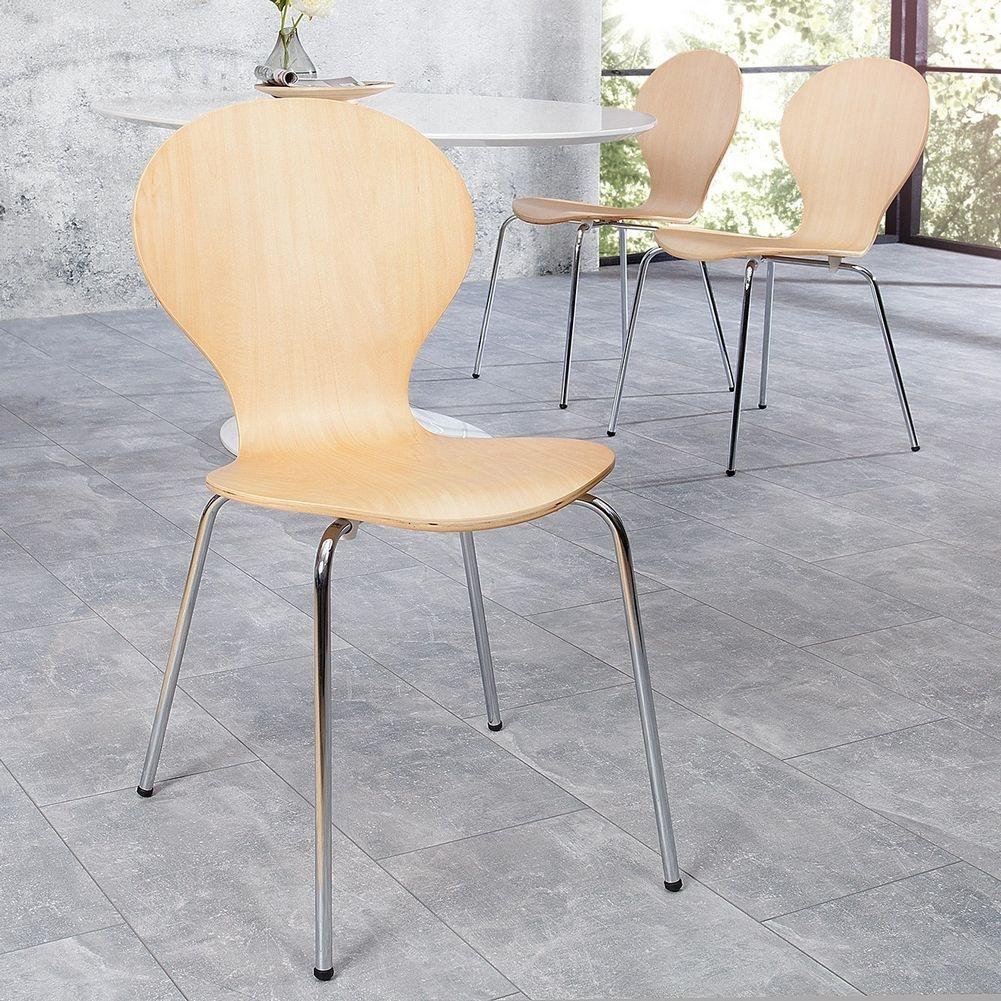 retro design klassiker stuhl stapelstuhl holzstuhl jacobsen ahorn neu ebay. Black Bedroom Furniture Sets. Home Design Ideas