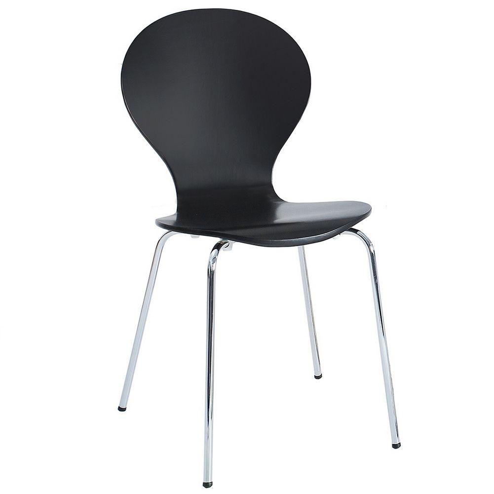 Retro design klassiker stuhl stapelstuhl holzstuhl for Holzstuhl schwarz