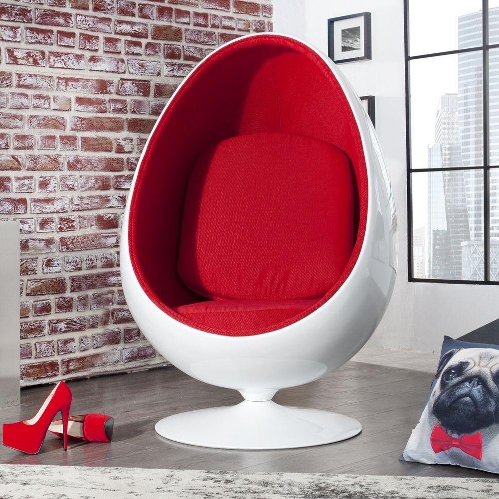 Designer Sessel Egg Ball Weiß Rot Portofrei Online Bestellen Cagü