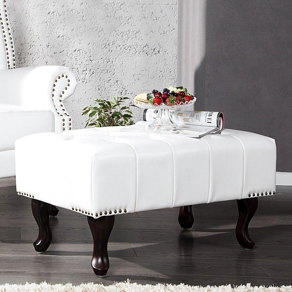 fu hocker winchester wei im klassisch englischen chesterfield stil portofrei kaufen cag. Black Bedroom Furniture Sets. Home Design Ideas