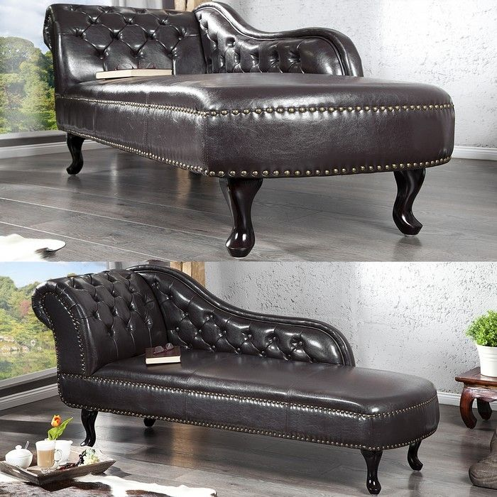 recamiere chesterfield winchester dunkelbraun portofrei bestellen cag design m bel onlineshop. Black Bedroom Furniture Sets. Home Design Ideas