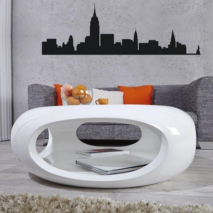 Couchtisch luna wei hochglanz 75cm portofrei kaufen for Design couchtisch bowl highgloss weiss 90cm