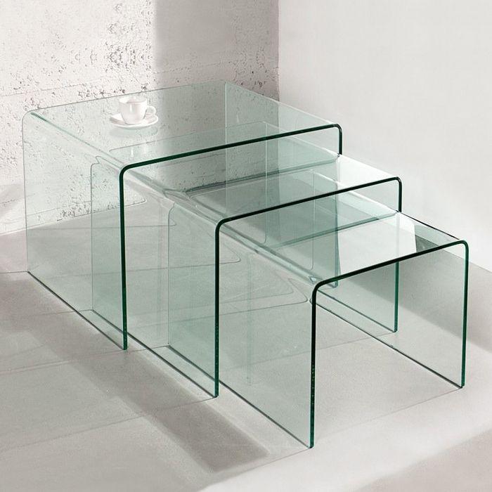 Glas-Satztisch