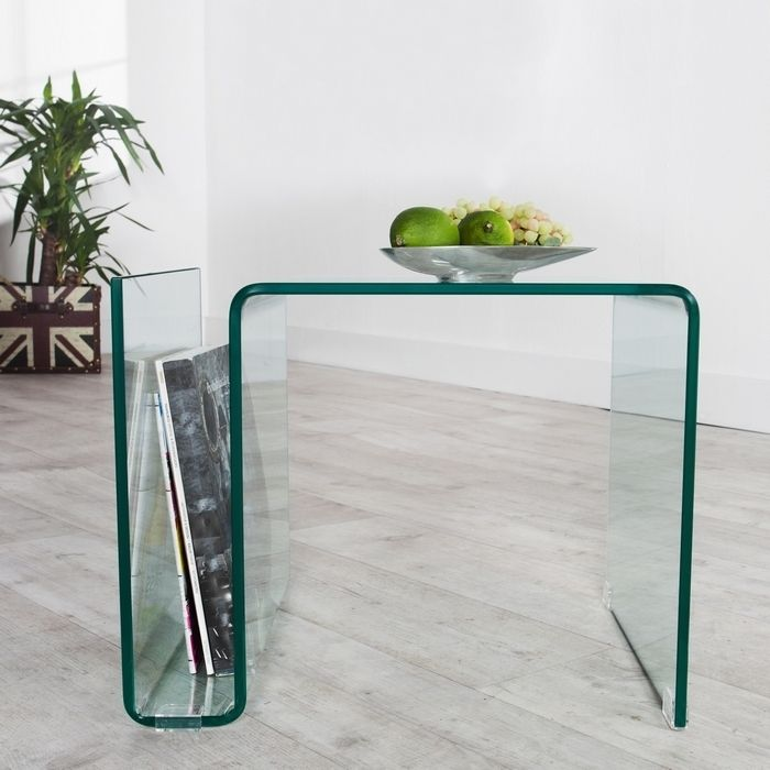 designer glas couchtisch beistelltisch mayfair glas 50cm neu ebay. Black Bedroom Furniture Sets. Home Design Ideas
