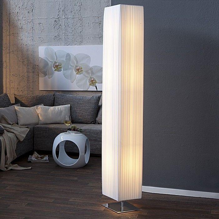 design plissee stehlampe loop wei 190cm h he cag onlineshop designerm bel versandkostenfrei. Black Bedroom Furniture Sets. Home Design Ideas