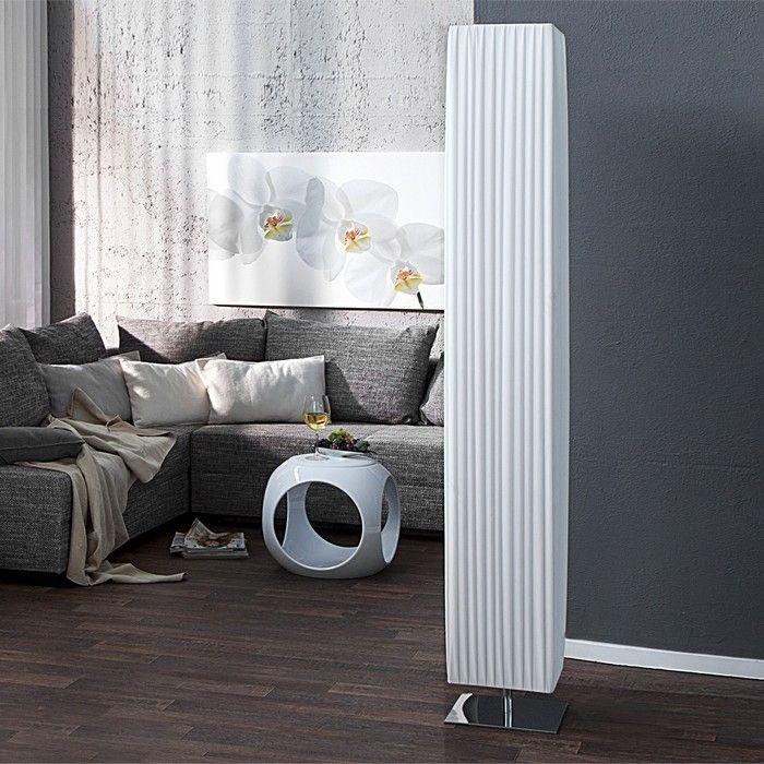 design plissee stehlampe loop wei 190cm h he cag. Black Bedroom Furniture Sets. Home Design Ideas